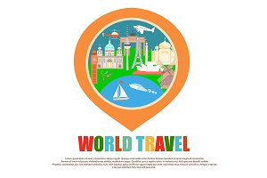 World Travel Badge as GPS mark