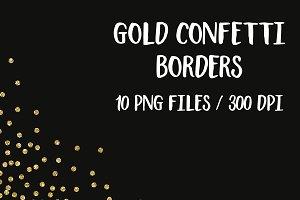Gold glitter confetti clipart
