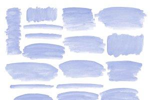 Blue watercolor strokes clipart