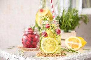 Cold Fruit Infused Detox Water