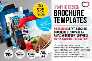 75% off 8 x Professional Brochures