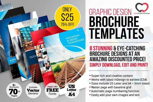 75 off 8 x professional brochures brochure templates creative