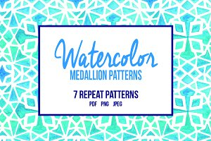 Watercolor Medallion Patterns