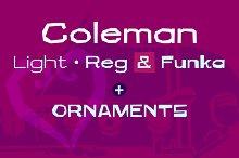 Coleman Font Family