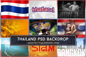 Thailand PSD Backdrop