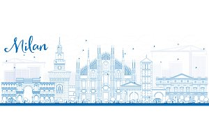 Outline Milan Skyline