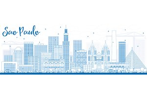 Outline Sao Paulo Skyline