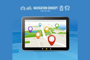 Navigation Concept. Vector