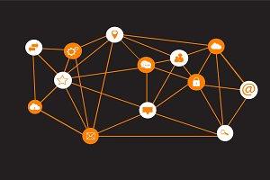 Social media icons network