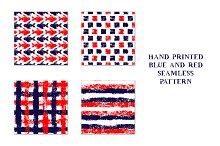 Grunge hand printed seamless pattern