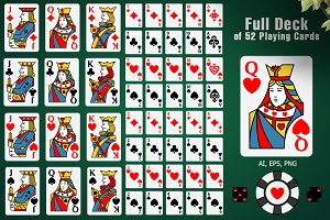 Full Deck of 52 Playing Cards