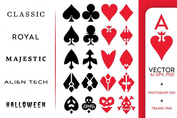 Full Deck Of 52 Playing Cards Illustrations Creative Market