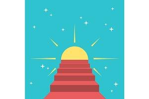 Steps to sun