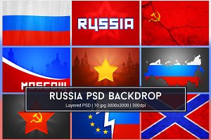Russian Background PSD
