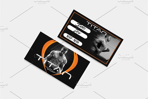 Gym Membership Card ~ Card Templates ~ Creative Market