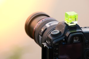 DSLR camera close up