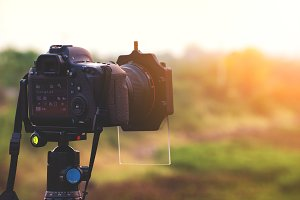Dslr professional camera outdoor