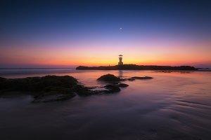 Light house and beach