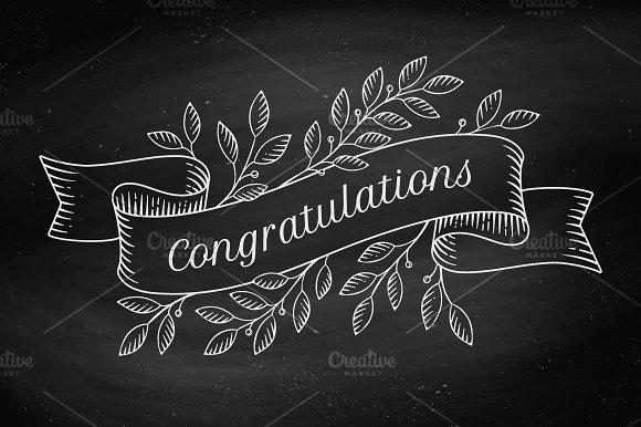 Congratulations. Greeting card - Illustrations