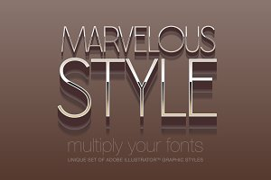Adobe Illustrator styles Marvelous