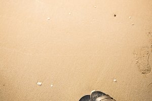 shoes on the beach