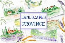 Watercolor Landscapes  Province