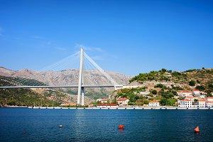 Franjo Tudjman Bridge in Dubrovnik