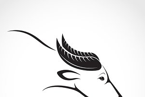 Vector image of an buffalo design