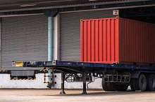 Shipping truck and container