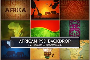 African Background PSD