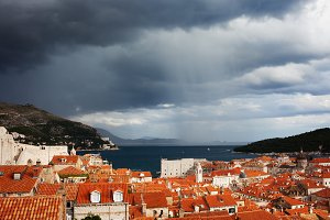 Stormy Sky Above Dubrovnik Old Town