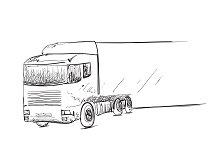 Truck. Logistics poster