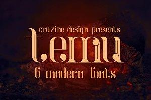 temu - Modern Font