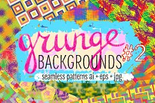 10 grunge colorful patterns #2