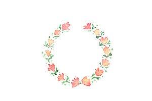 2 Floral frames
