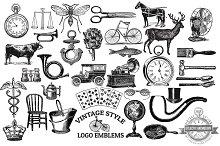 Vintage Vector Logo Emblems