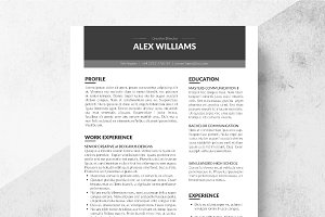 Zone Resume Template + Cover Letter