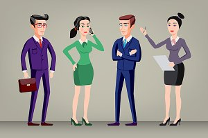 Business people, man and woman