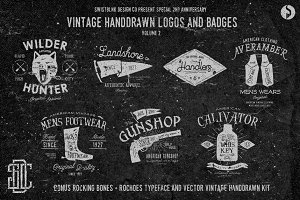 Vintage Handdrawn Logos Vol 2 (Sale)