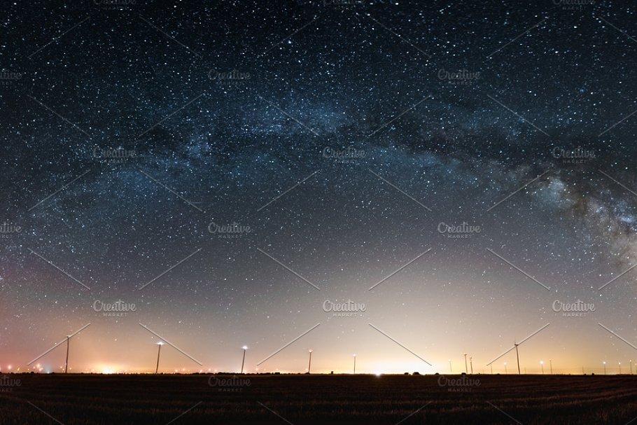 Milky Way. Beautiful summer night sky with stars
