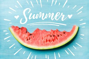 Slice of watermelon & Summer
