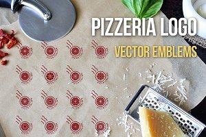 Pizzeria logo templates