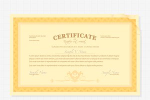 Vintage style Certificate
