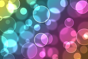 Abstract colourful bubbles