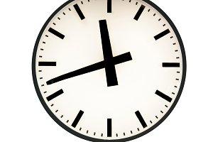 Fifteen to twelve on the clock