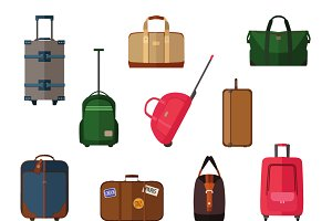 Travel baggage icons