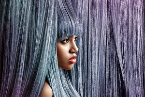 creative hair color concept
