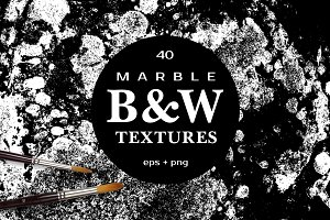 MARBLE B&W Vector Textures
