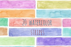 Stripes watercolor Handpainted, PNG