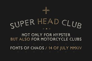 Super Head Club - Hand Drawn Font.
